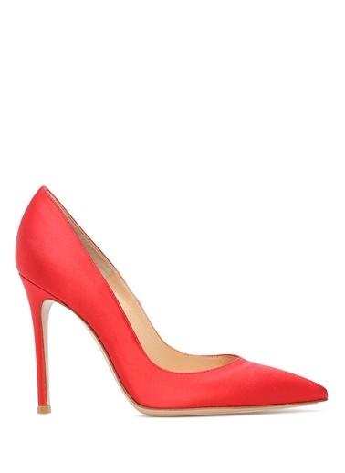 Gianvito Rossi %100 İpek Stiletto Ayakkabı Kırmızı
